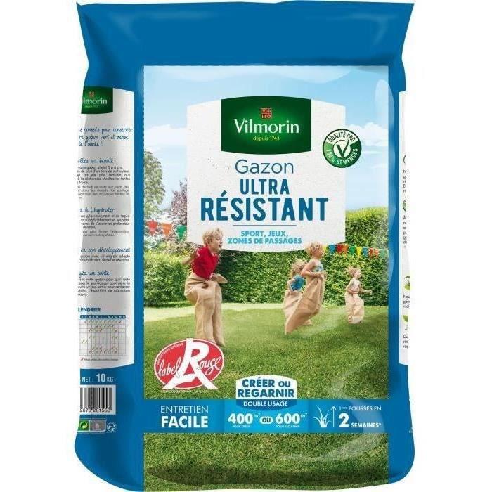 VILMORIN Semences de gazon ultra-résistant Label Rouge - 10 kg
