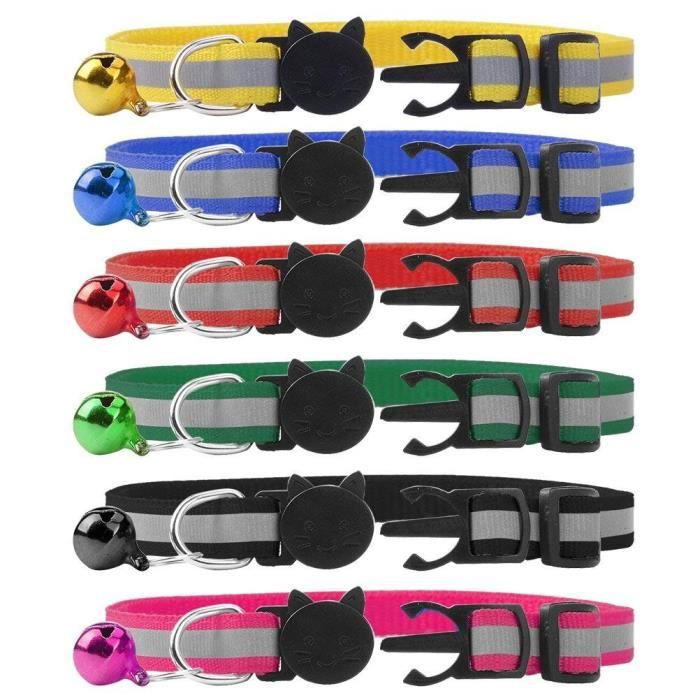Carte Realys Cdiscount.Collier Cat Quick Release Avec Bell Reflechissantes Colliers 6 Packs 3l8wdd