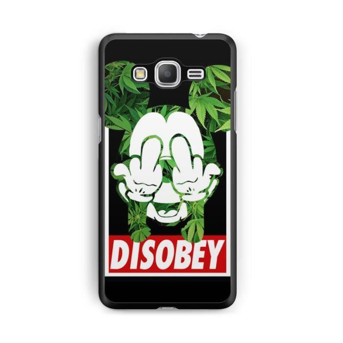 Coque Samsung Galaxy Grand Prime Disney mickey OBEY swag fuck weed ...