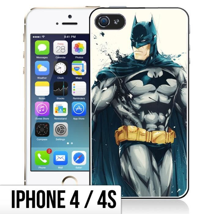 coque iphone 4 4s batman paint art