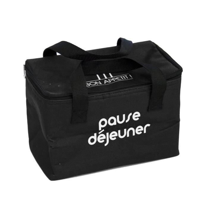 lunch bag isotherme 2 6 l noir achat vente glaci re. Black Bedroom Furniture Sets. Home Design Ideas