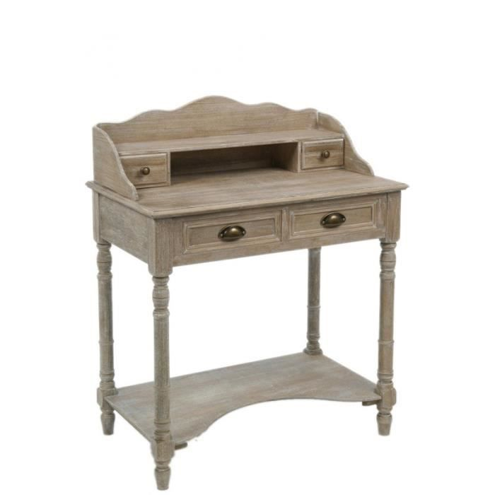 bureau bois naturel firenze achat vente bureau bureau bois naturel firenze bois cdiscount. Black Bedroom Furniture Sets. Home Design Ideas
