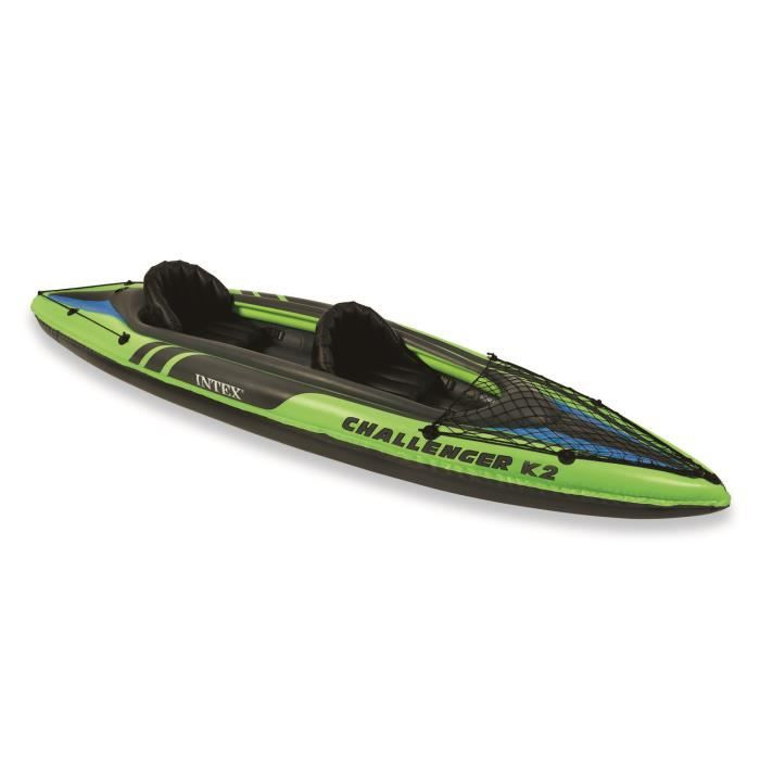 Kayak gonflable 2 places challenger k2 intex prix pas cher cdiscount - Kayak gonflable 2 places ...