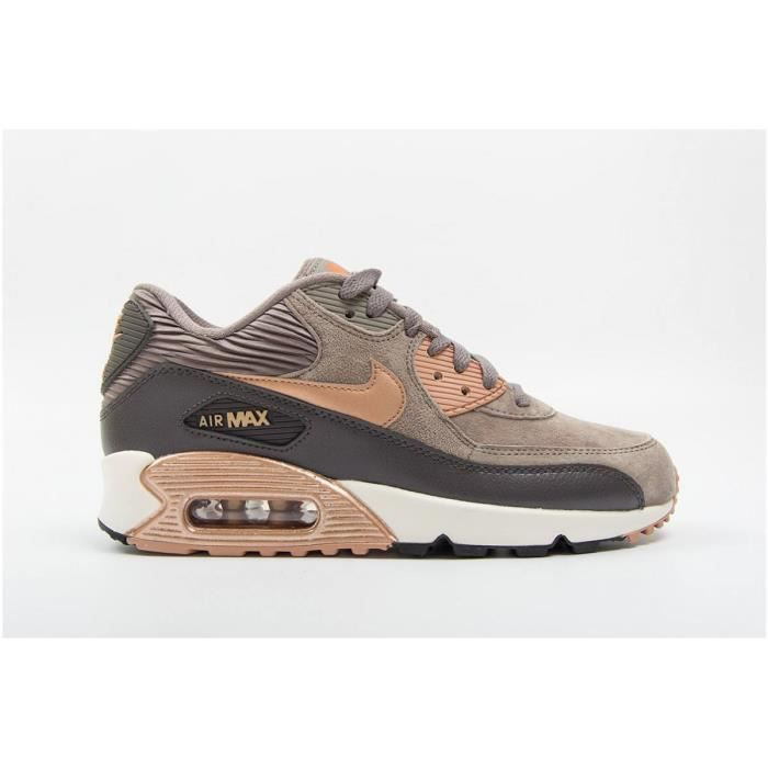 la meilleure attitude 8662d 62b04 Nike Air Max 90 Leather MARRON - Achat / Vente basket ...