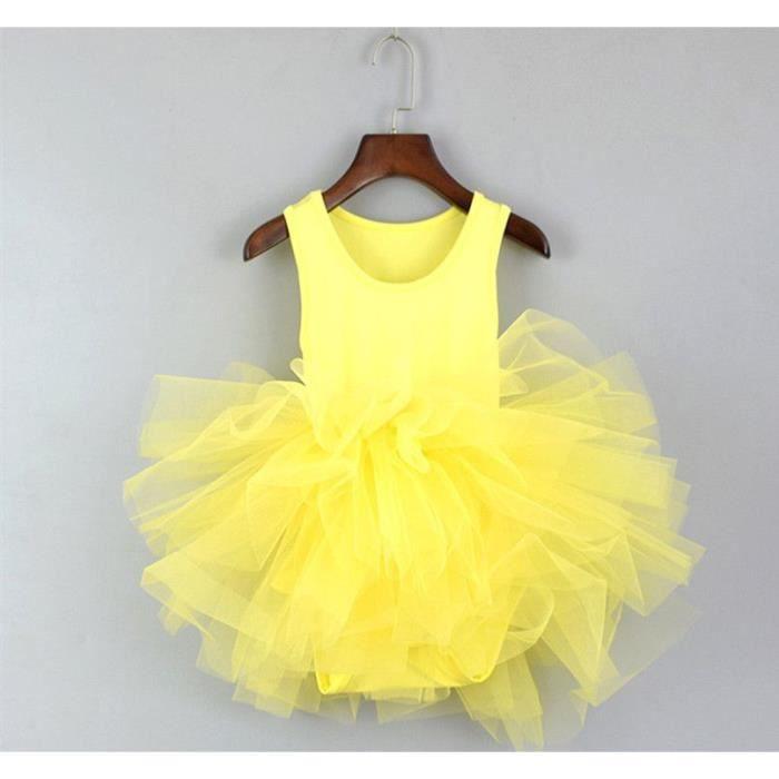 Robe Tutu Enfant Fille Robe De Ballet Sans Manches Blanche Noire Emilie Mariage Jaune Achat Vente Robe De Ceremonie Cdiscount