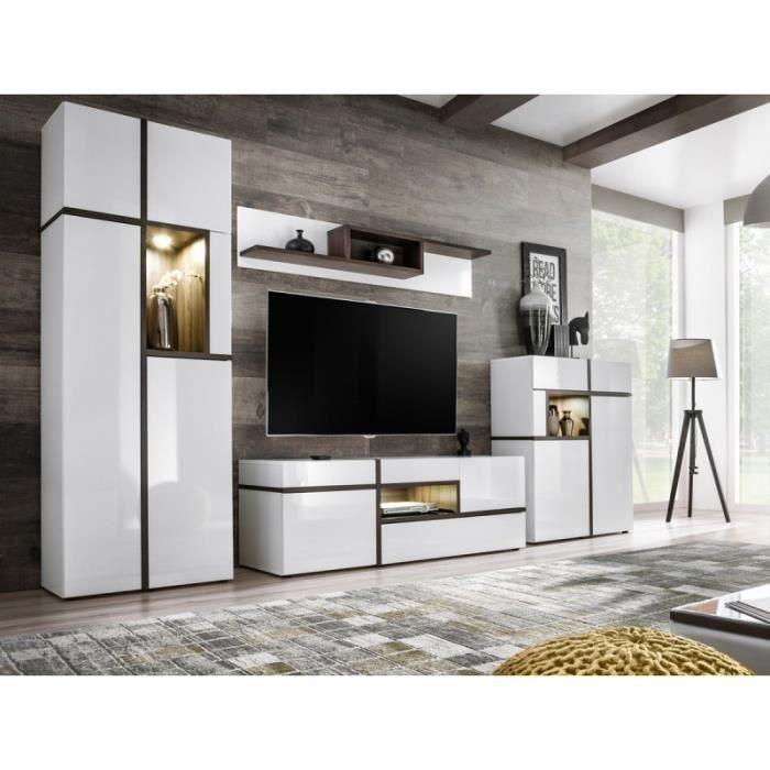 "MEUBLE TV Meuble Tv Design ""cross"" 310cm Blanc - Paris Prix"