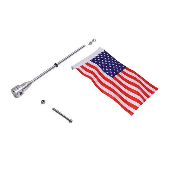 Drapeaux Américains USA Sur Pôle Porte-bagages Montage Mât Moto Accs