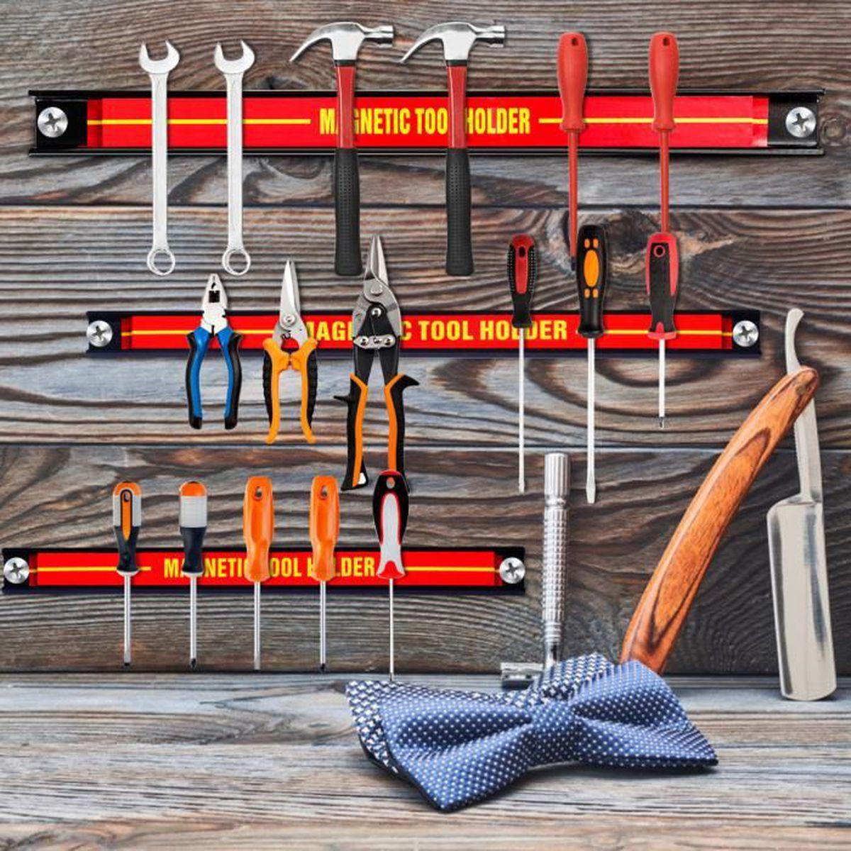 Support outils magnétique 3 pièces porte outil garage atelier baguette alimenté