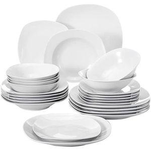 SERVICE COMPLET Malacasa ELISA 48pcs Service de Table Porcelaine 1