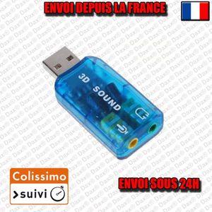 ADAPTATEUR AUDIO-VIDÉO  Adaptateur Carte Son Externe Clé USB 3D Audio Micr