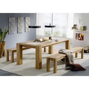 TABLE À MANGER SEULE Table à manger 140x90cm - Bois massif de Chêne Sau
