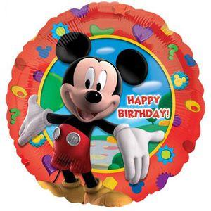 BALLON DÉCORATIF  Ballon Happy Birthday Mickey Non Gonflé