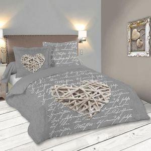 HOUSSE DE COUETTE ET TAIES WOODLOVE Parure de lit - Gris - 220 x 240 cm