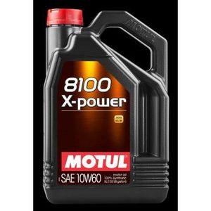 HUILE MOTEUR MOTUL Huile  8100 X-POWER 10W60 5L (bidon)