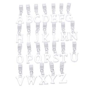 PENDENTIF VENDU SEUL Couleur argentee mixte Alphabet de A a Z pendre Pe