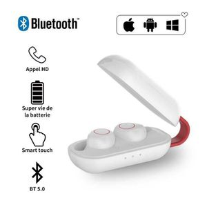 CASQUE - ÉCOUTEURS SUNNZO TWS Écouteur Bluetooth V5.0 Sans Fil Sport