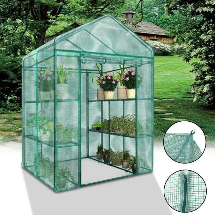 MSD Couverture de Serre Plantes Verte Jardinage Anti-gel Anti-Insect Hiver Protection Soleil 69x49x160cm