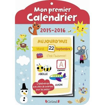 mon premier calendrier achat vente livre olivia cosneau editions gr nd parution 20 08 2015. Black Bedroom Furniture Sets. Home Design Ideas