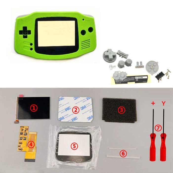 Kits d'écran LCD IPS V2 Boutons de boîtier de boîtier de coque prédécoupés pour console GBA Game Boy Advance vert