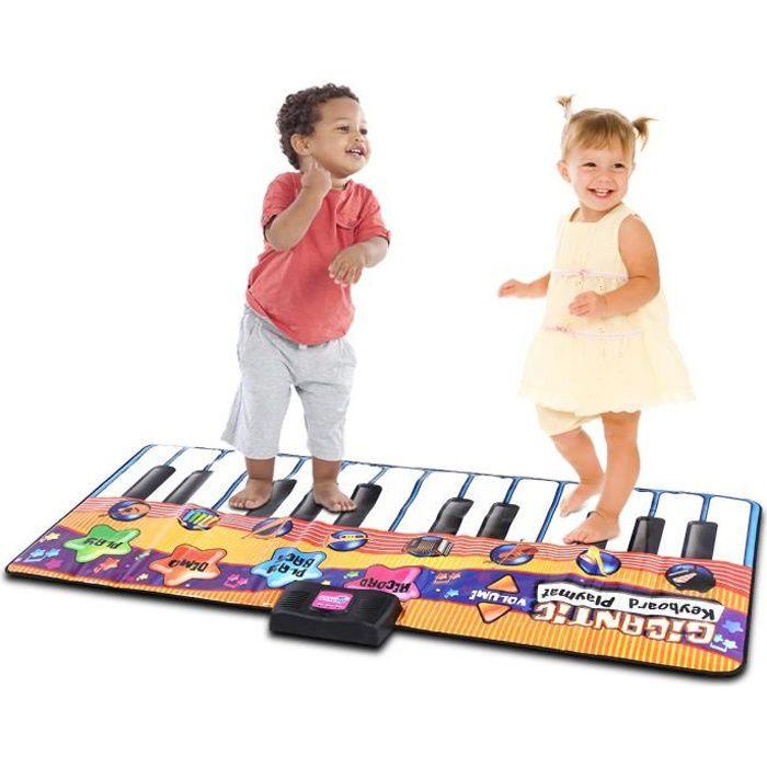 COSTWAY Tapis de Piano Musical, Mat de Danse 4 Modes et 8 Genres d' Instrument au Choix 180 x 74 cm Haut-Parleur Intégré