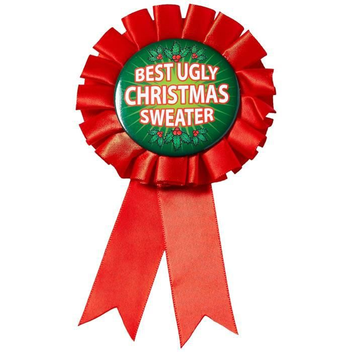 Support A Decorer X75O8 Award Ribbon For Ugliest Christmas Sweater