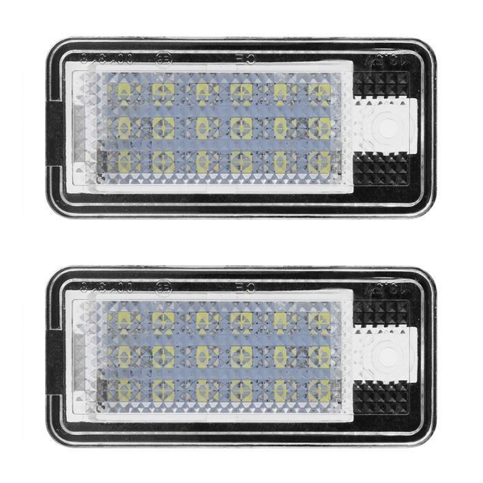 Lanqi Éclairage de Plaque d'immatriculation 2pcs Voiture LED NombreHop-LPL0114 Plaque Ampoule Kit Pour A3 A4 S4 B6 B7 A6 C6 S6