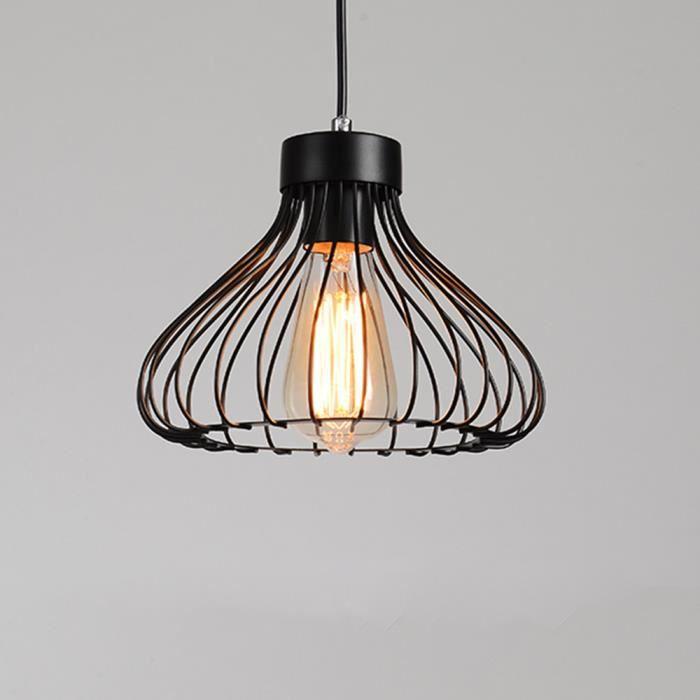 Yote E27 Lustre Suspension Industrielle Lampe Luminaire Éclairage de Plafond Abat-jour en Métal Style Vintage pour Salon Chambre
