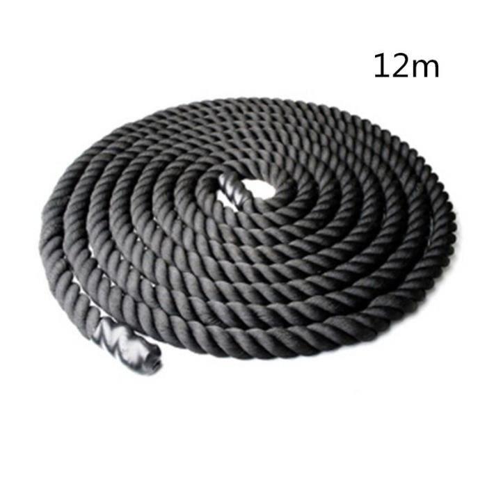 Corde d'entraînement de force de corps de corde d'entraînement de puissance de 38mm 12-15m corde d'e - Modèle: Black - HSJSTSA10202
