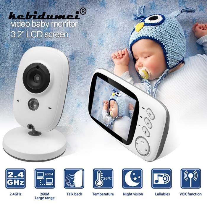 BABY PHONE - ECOUTE BEBE,Moniteur vidéo couleur sans fil 2.4Ghz Haute résolution 3.2 pouces, caméra de sécurité nounou - Type EU