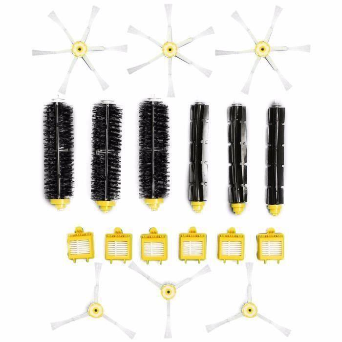 18 Pcs Kit Brosse Latéral Filtre Nettoyage Pour Aspirateurs iRobot Roomba 700 760 770 780 Serie Bo40160