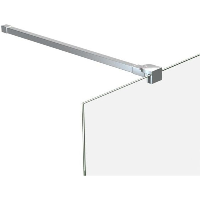 Bras de support pour Paroi de douche - Acier inoxydable - Longueur Réglable 70-120 cm
