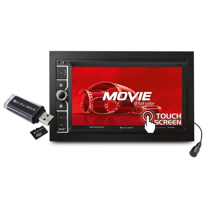 Caliber autoradio RMD801DAB-BT Double Din sans CD DAB+ Bluetooth 4x75w