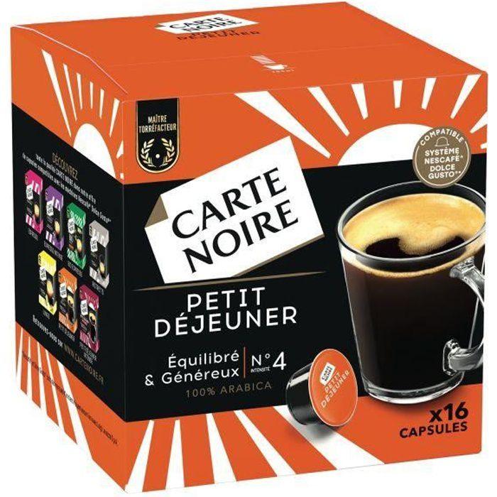 CARTE NOIRE Capsules Dolce Gusto Petit Déjeuner N°4 x16 - 128 g