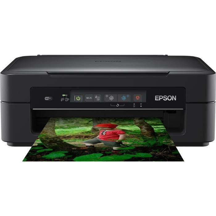 Epson Imprimante Expression Xp 255 multifonctions 3 en 1 jet d'encre couleur ultra compact Wifi encre Claria Home
