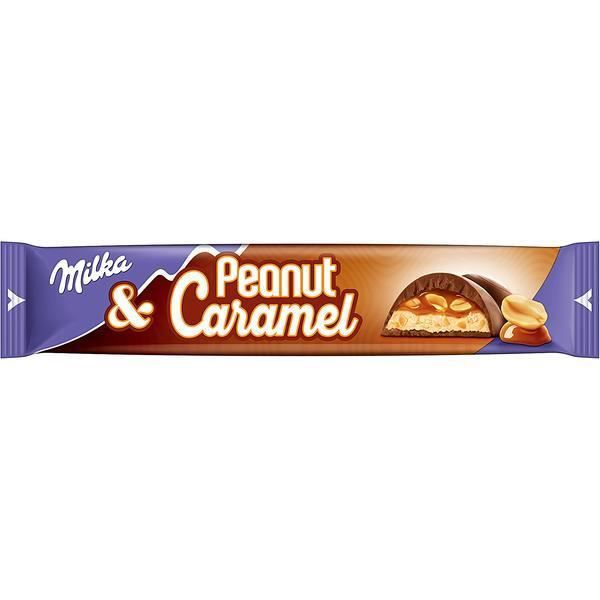 Milka Peanut & Caramel Barres de Chocolat 37g (Pack de 36)