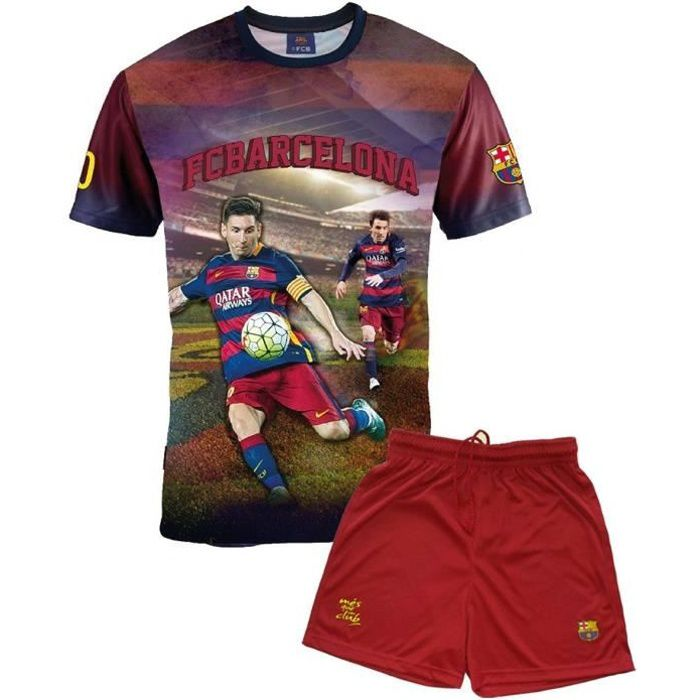 Ensemble Maillot + short Barça - Lionel MESSI - Collection officielle FC BARCELONE