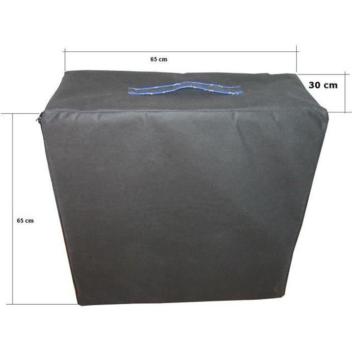 Sac de rangement pour matelas d'appoint pliable, multi-usages pour matelas 195x65x10cm - Noir