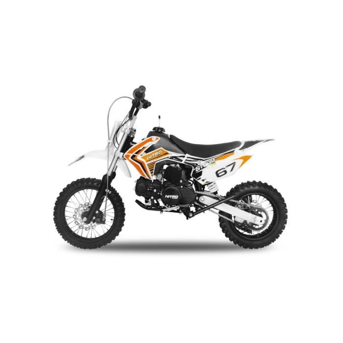 Dirt bike STORM 125cc - Orange Dirt bike Pit Mini Moto