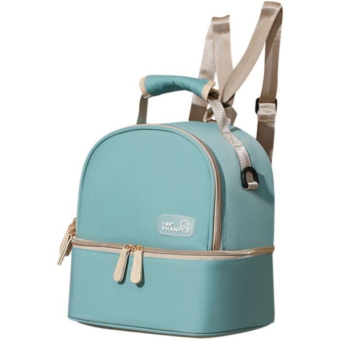 1 Pc sac à couches sûr Chic Fine de conservation à dos portable mère cadeau double couche pochette de coffret biberons repas bebe