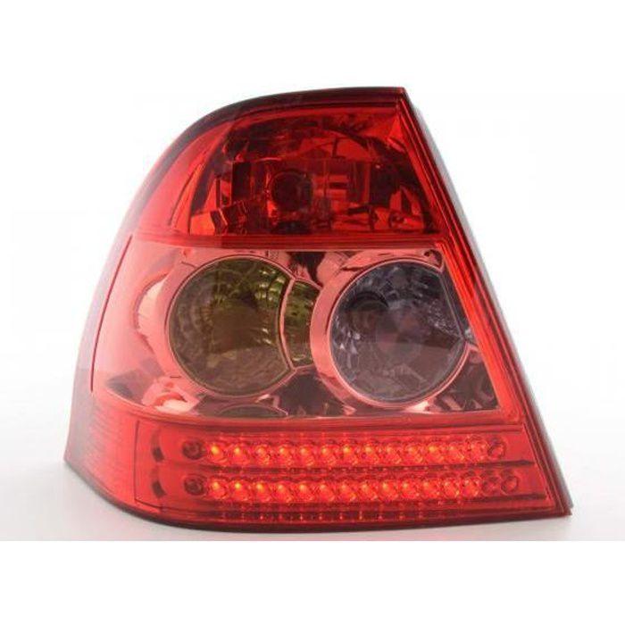 LED Feux arrières pour Toyota Corolla à hayon (type E12) année 02-04, rouge - - année: 2002 à 2004- couleur: rouge