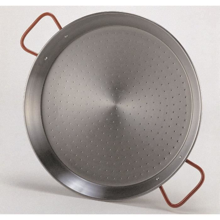 Plat à paëlla en acier poli - Diamètre 400mm
