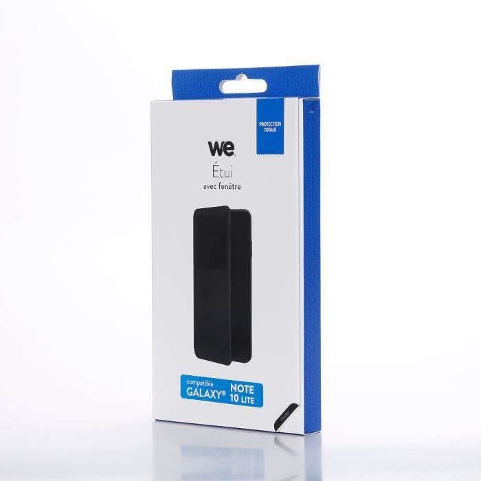WEEtui de protection WE noir pour Samsung Galaxy Note 10 Lite Résistant aux chocs et chûtes. Accès caméra et multi-position.