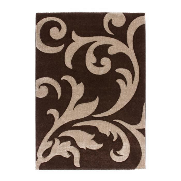tapis de salon moka dessin moderne fleurs 160x230 cm. Black Bedroom Furniture Sets. Home Design Ideas