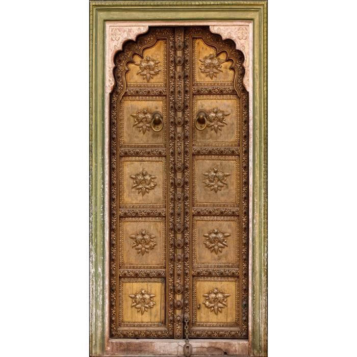 Sticker porte orientale trompe l oeil dimension achat for Decoration porte orientale