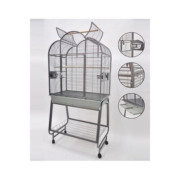 grande cage perroquet achat vente voli re cage oiseau grande cage perroquet cdiscount. Black Bedroom Furniture Sets. Home Design Ideas