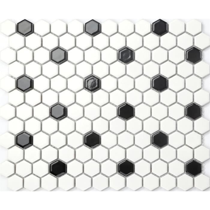 Carrelage mosaique blanc for Carrelage mosaique blanc