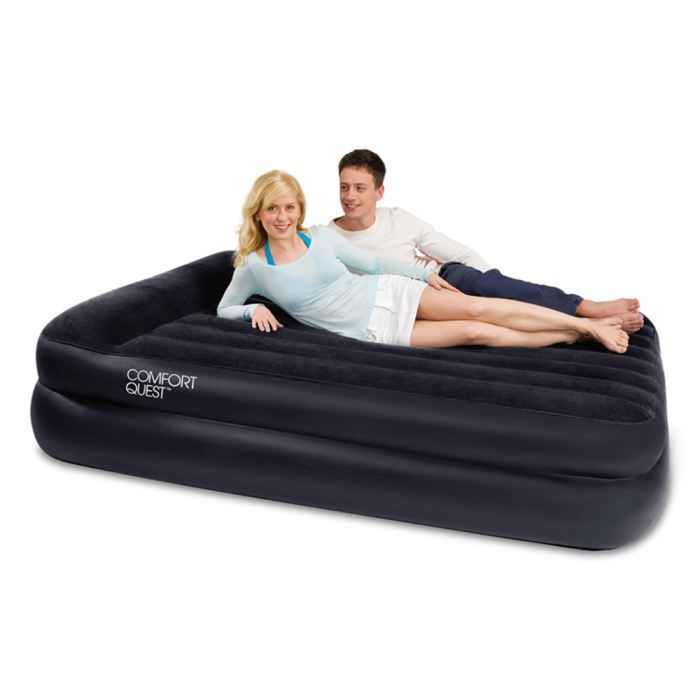 matelas gonflable pompe lectrique 2 places achat. Black Bedroom Furniture Sets. Home Design Ideas