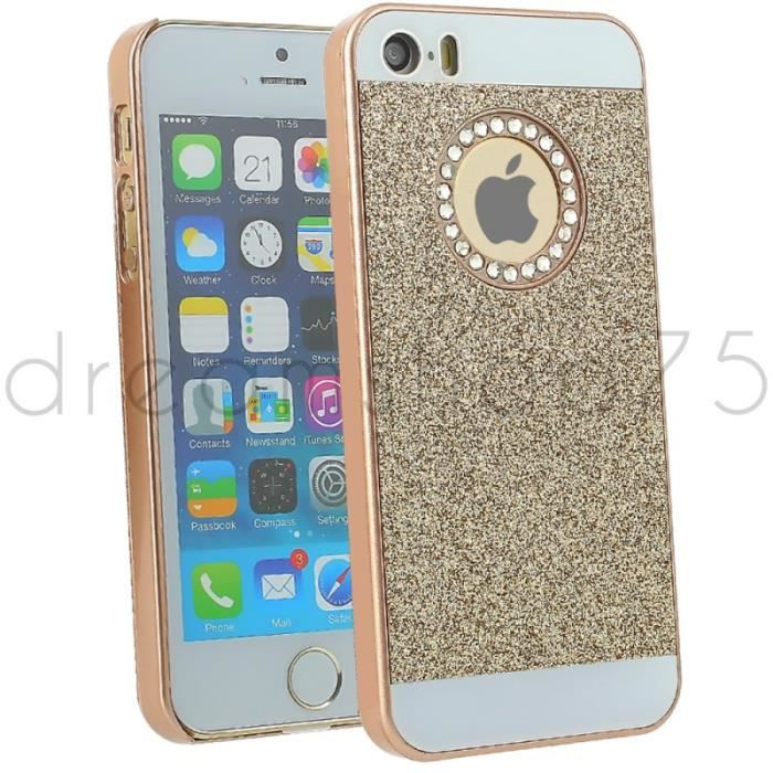 coque housse diamants g2 pour iphone 5 5s gold achat coque bumper pas cher avis et. Black Bedroom Furniture Sets. Home Design Ideas