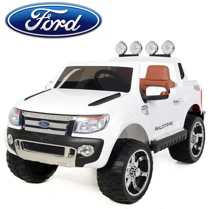 voiture lectrique pour enfant 4x4 ford ranger 2x35w blanc achat vente voiture enfant. Black Bedroom Furniture Sets. Home Design Ideas
