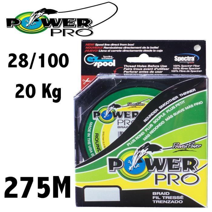 8 Mod/èle powerPro 275 m super slick multicolor tress/é jaune
